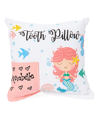 Pink Mermaid Tooth Pillow