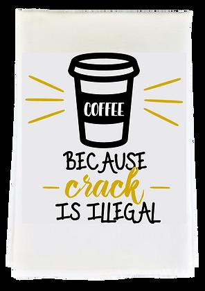 Coffee Crack Tea Towel