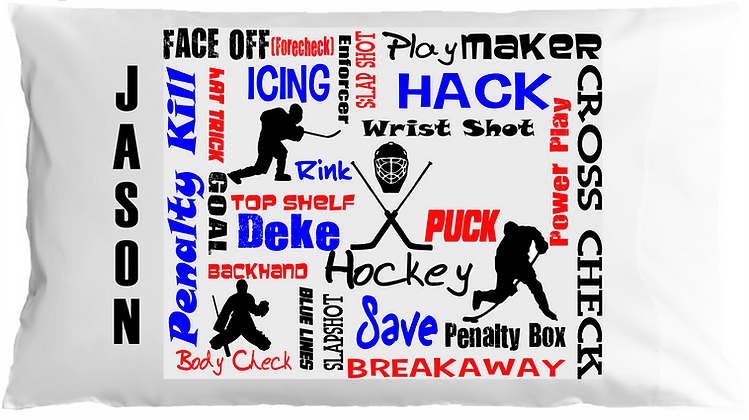 Hockey Sports Chatter Travel Pillow