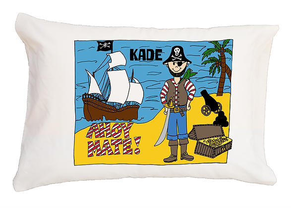 Pirate w/Custom Name Standard Pillowcase