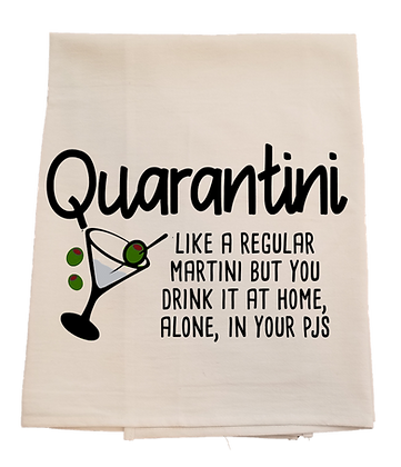 Quarantini Tea Towel