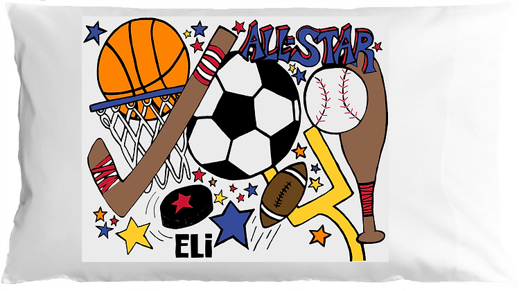 All Star Sports w/Custom Name Pillowcase