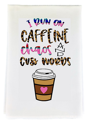 Caffiene Chaos Tea Towel