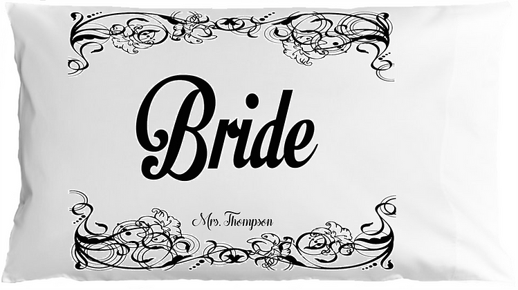 Bride & Groom w/Custom Name Standard Pillowcases