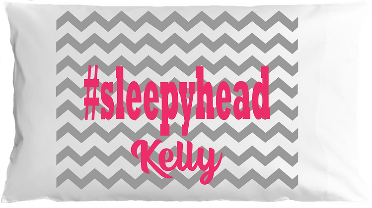 #sleepyhead w/Custom Name Standard Pillowcase
