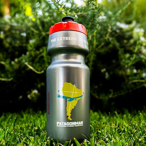 Patagonman Silver Water Bottle