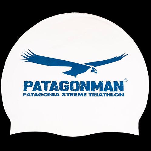 Patagonman White Swimming Cap