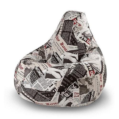 Кресло-Мешок «Газета Бьюти»