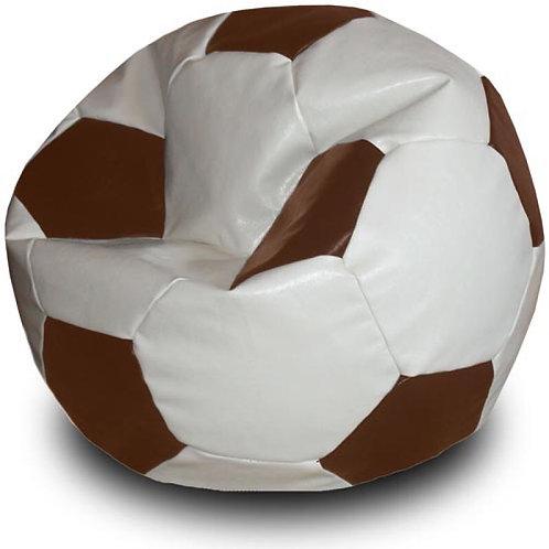 Кресло мяч Футбол «Бело-Коричневый»