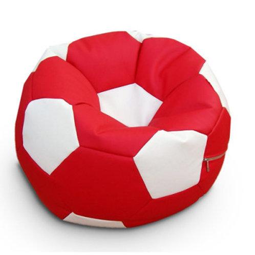 Кресло мяч Футбол «Красно-Белый»