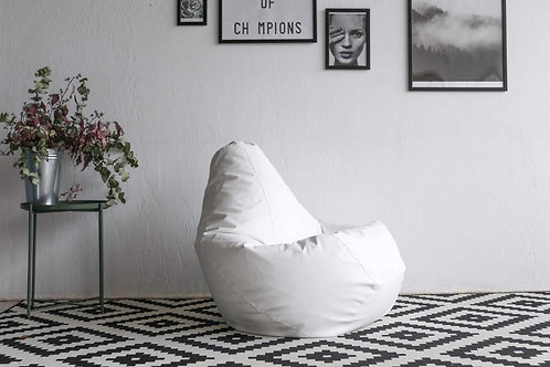 Кресло-Мешок «Белая Кожа»