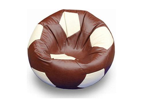 Кресло мяч Футбол «Коричнево-Белый»