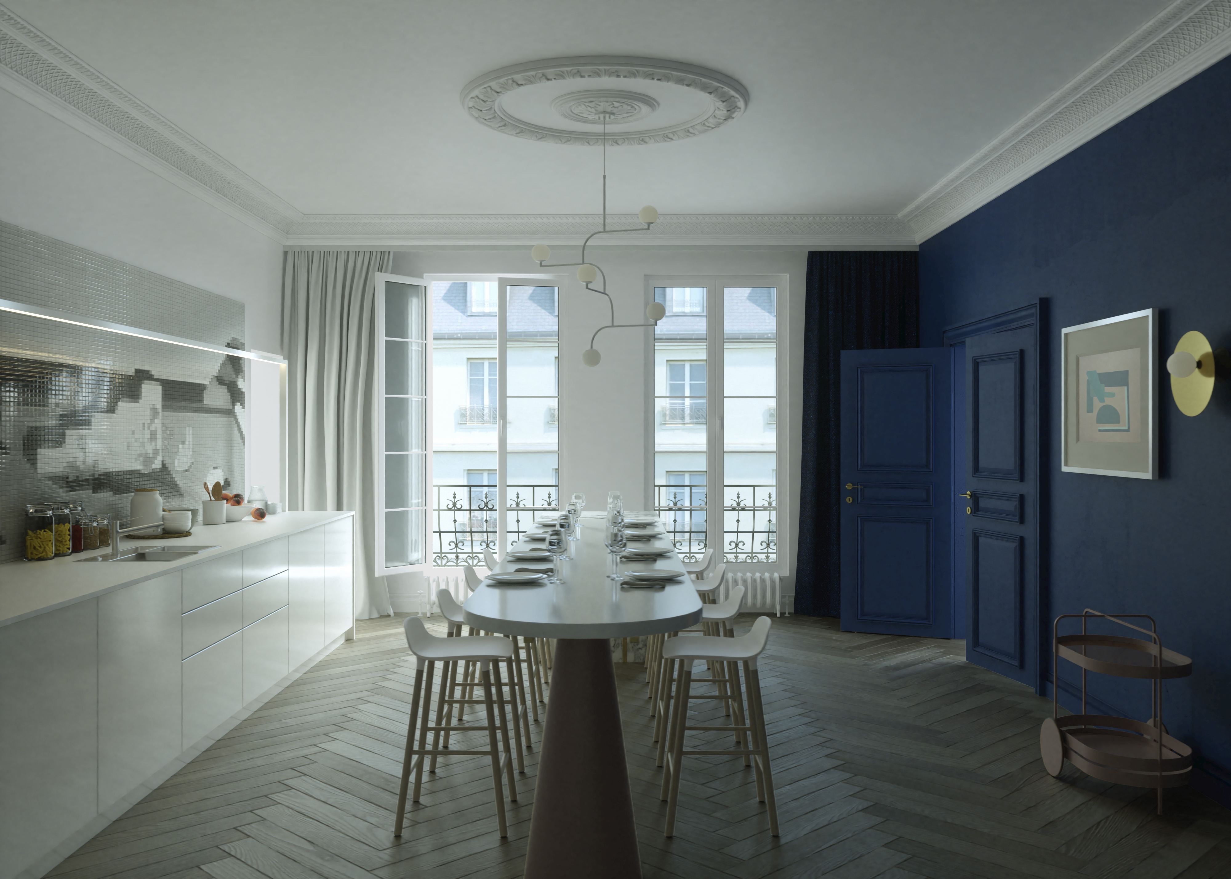 Cuisine bleue Paris