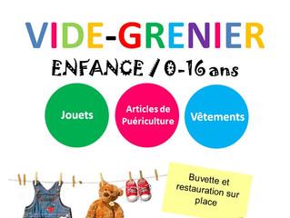 Vide Grenier Enfance (0-16 ans) - Dimanche 15 avril 2018