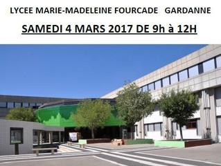 Journée Portes Ouvertes au Lycée Fourcade le samedi 4 mars 2017 de 9h à 12h