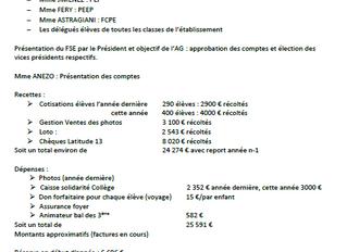 Compte rendu PEF de l'A.G. du F.S.E. du 08.12.2015