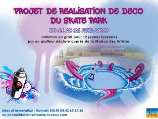 Décoration skate park Fuveau