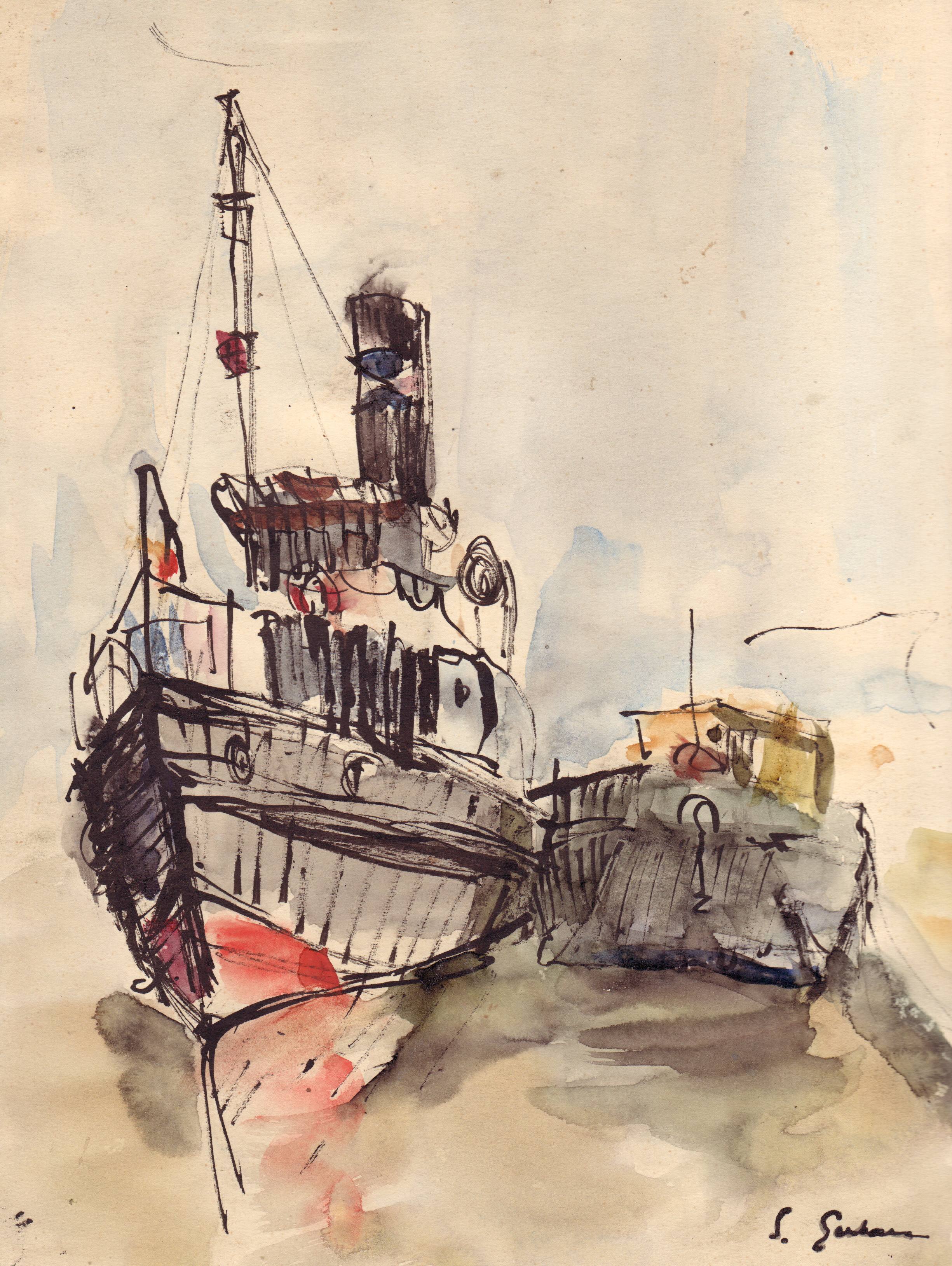 83 Barci e canalul Sulina.jpg