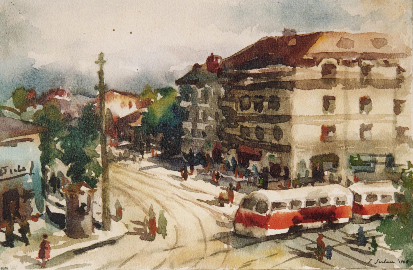 38 - tramvaiul 5 pe c. Dorobantilor.jpg