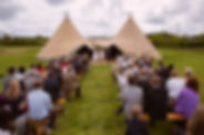 outdoor wedding pembrokeshire