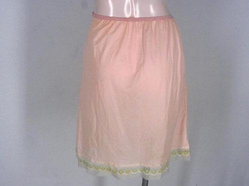 Vintage 60s 70s pink nylon half slip