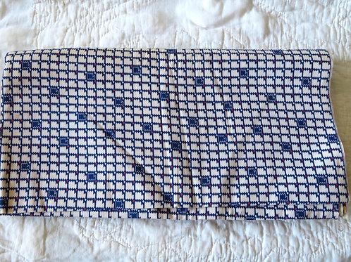 Vintage geometric print textured fabric