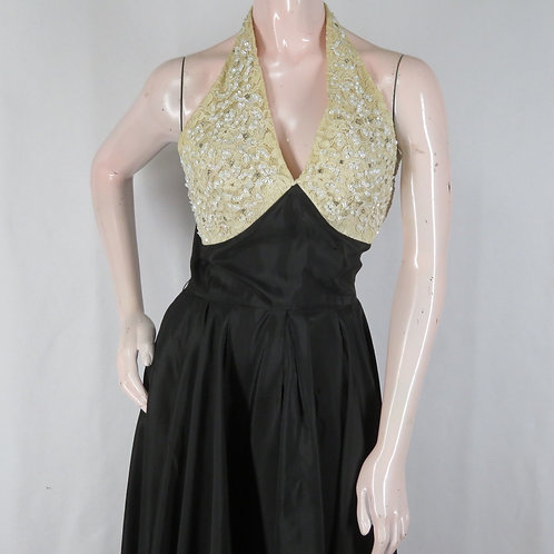 Vintage cocktail or evening dress from the 1950s