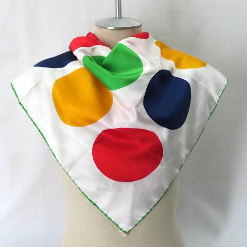 Vintage Polka Dot Scarf Glentex Japan