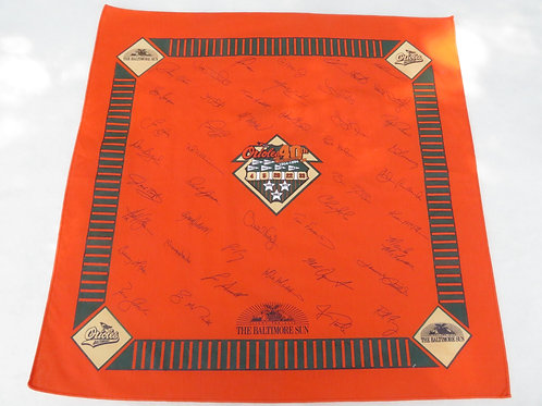 Vintage Baltimore Orioles bandana celebrating their 40th anniversary