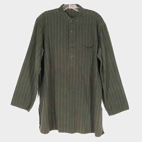 Vintage Fabindia Green Striped Kurta Shirt