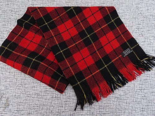 Vintage Wallace Tartan Plaid Wool Scarf