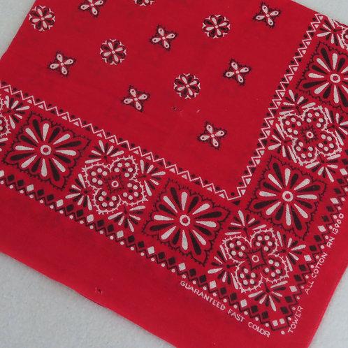 Red Tower bandana with starburst pattern