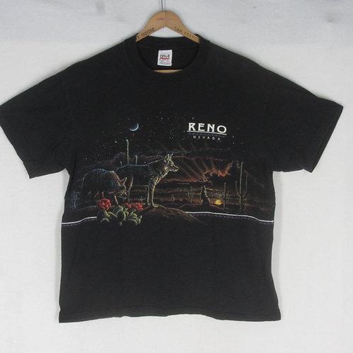 Vintage black Reno Nevada tee with coyote and desert scene