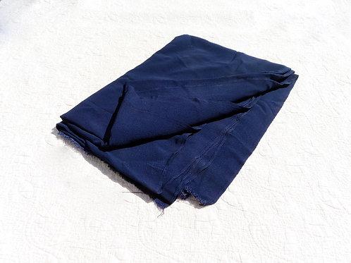 "Vintage Navy Blue Rayon Fabric 3 yd 13"""
