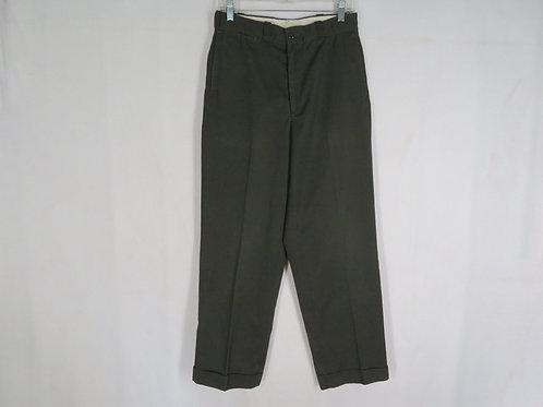 Vintage Bic Mac Work Pants W 30 Green Penneys Workwear