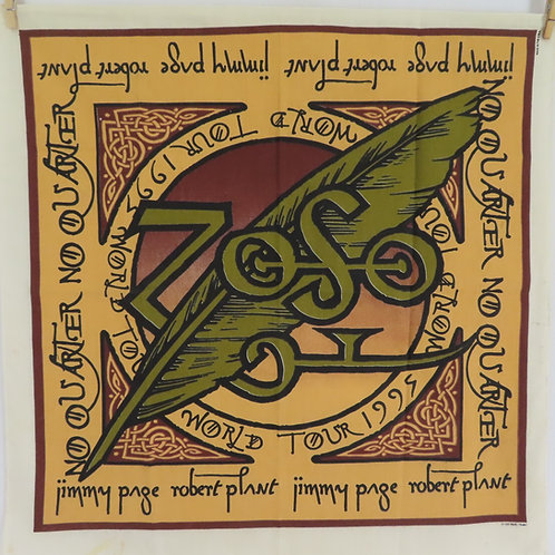 Vintage concert bandana for 1995 Page and Plant ZOSO tour