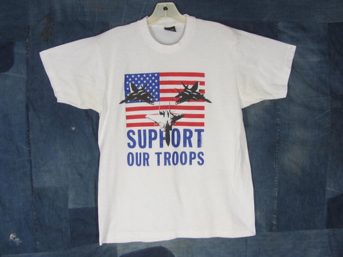 Vintage 90s Desert Storm flag tee Support Our Troops