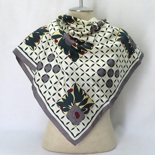 Vintage Ginnie Johannsen Silk Scarf Art Deco Print