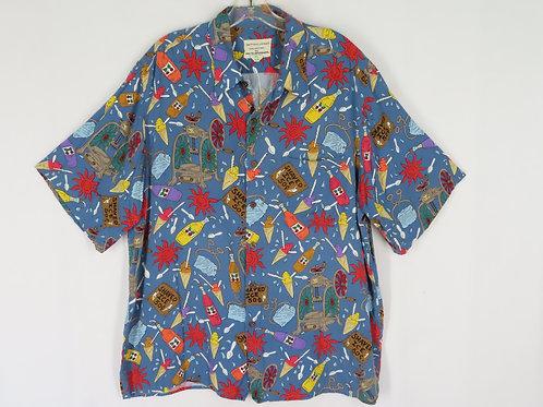 Reyn Spooner Shave Ice Aloha Shirt Detrich Ykrez XL