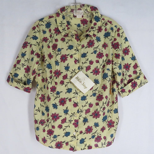 Vintage yellow White Stag shirt with floral print