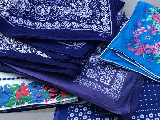 A Good Week For Vintage Blue Bandanas