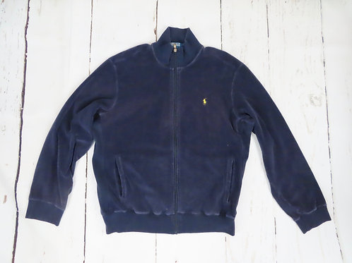 Vintage  Ralph Lauren Zipper Jacket XL Navy Cotton Terry