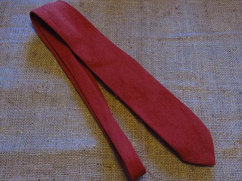 50s El Denver Wool Tie Rust Brown Handwoven Los Wigwam Weavers Denver