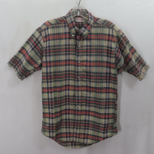 Short sleeve Madras plaid vintage shirt