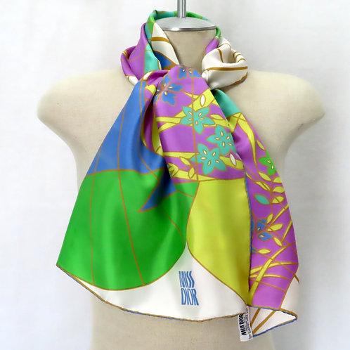 Fan print scarf on mannequin