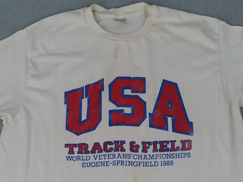 Vintage track and field tee dated 1989