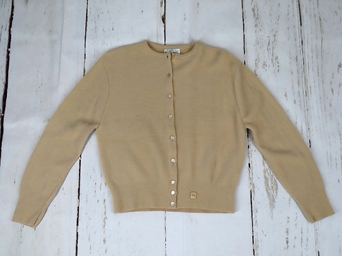 Vintage beige or light brown cardigan sweater by Campus Queen