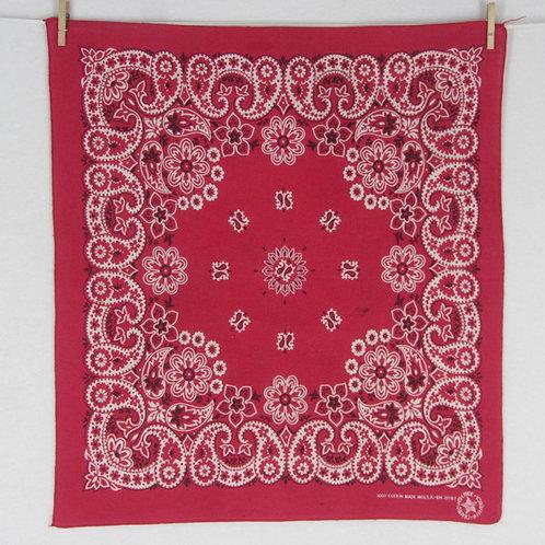 Vintage red paisley print bandana