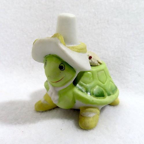 Vintage Ceramic Turtle Pincushion Lefton China