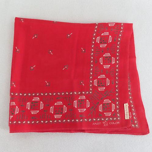 Antique turkey red bandana with rare camel brand logo